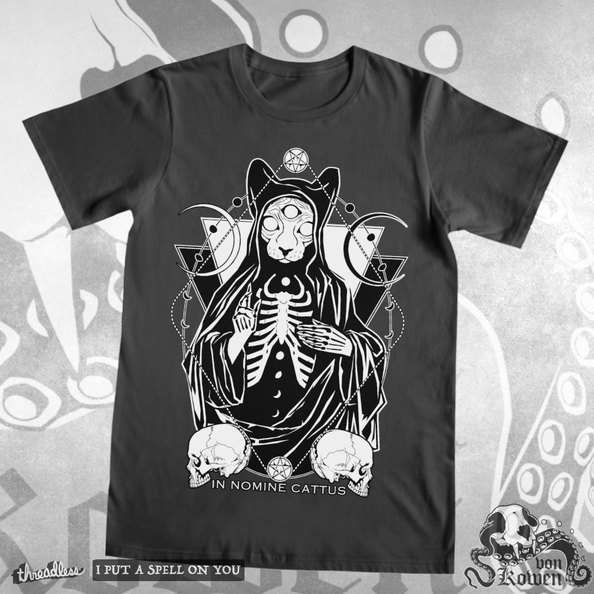 Cat Priest, a cool t-shirt design