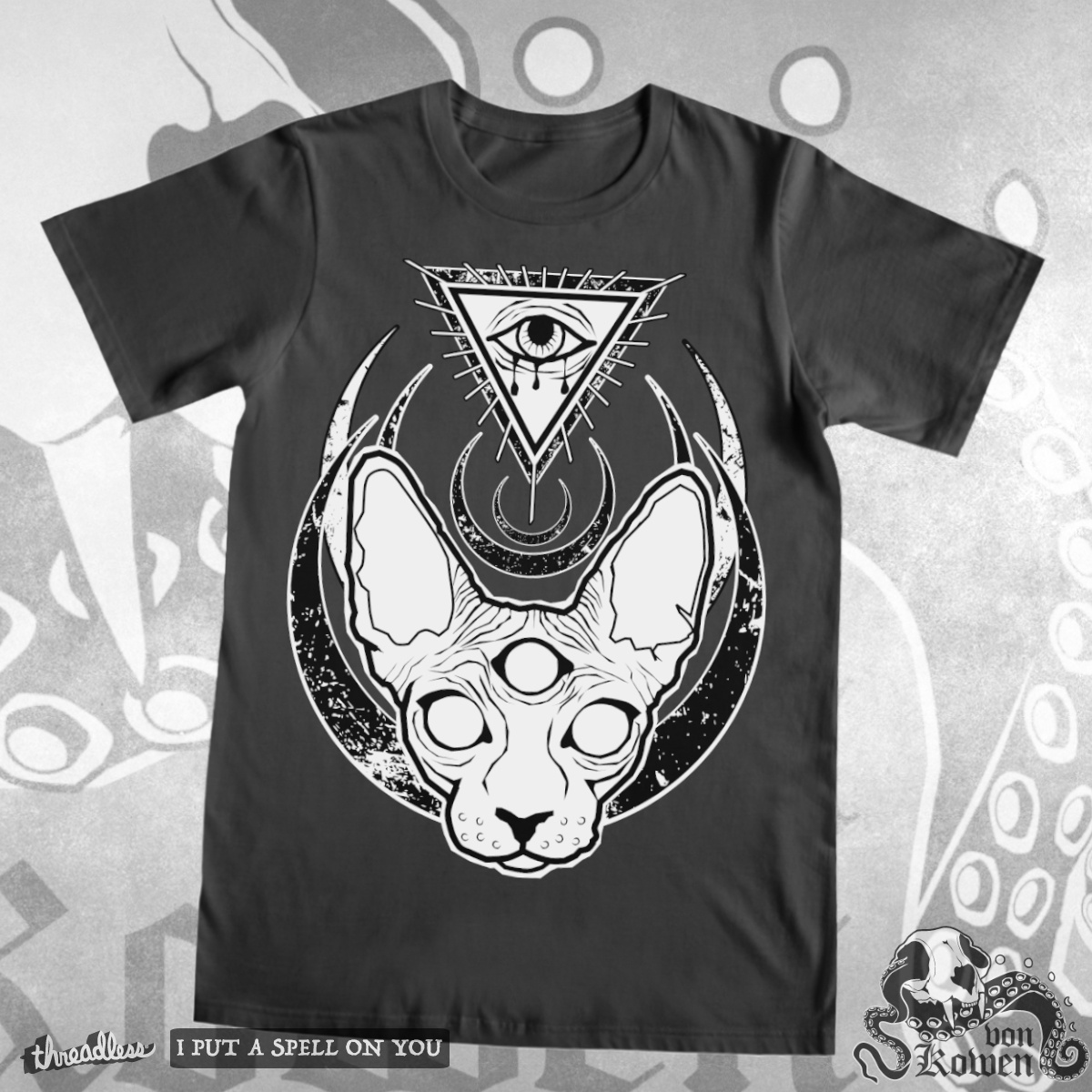 The all seeing occult sphynx, a cool t-shirt design