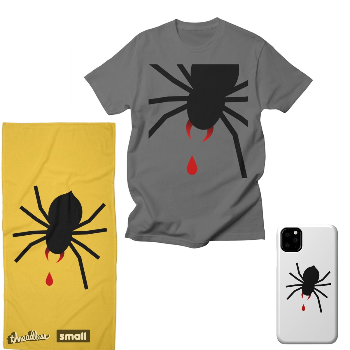 The big spider, a cool t-shirt design